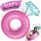 """Fractal 1 Giant Pool Float Pink Diamond Ring Shape 