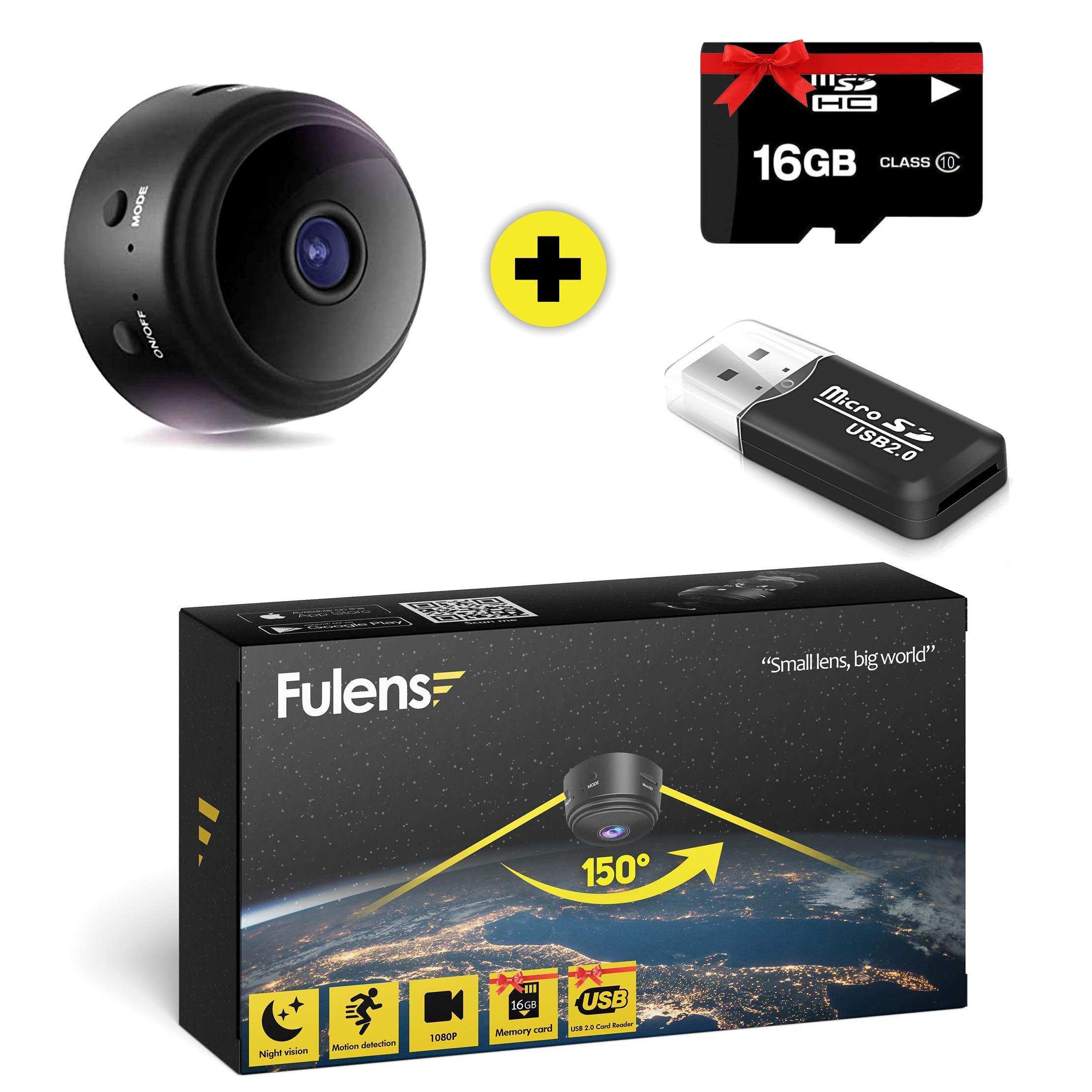 Fulens - Mini spy Hidden Camera, Night Vision WiFi spy Camera, Motion Detection Small Camera