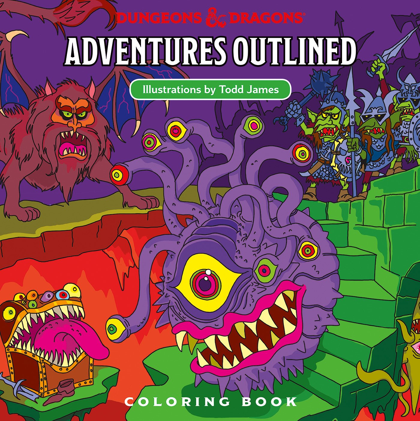 Amazon Com Dungeons Dragons Adventures Outlined Coloring Book 9780786966646 Wizards Rpg Team James Todd Books