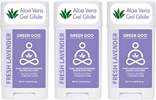 product image for Green Goo Natural Deodorant Gel for Men and Women, Lavender Gel, Oval, 2.25 Ounce, 3 Pack (Packaging May Vary) (4351241637)