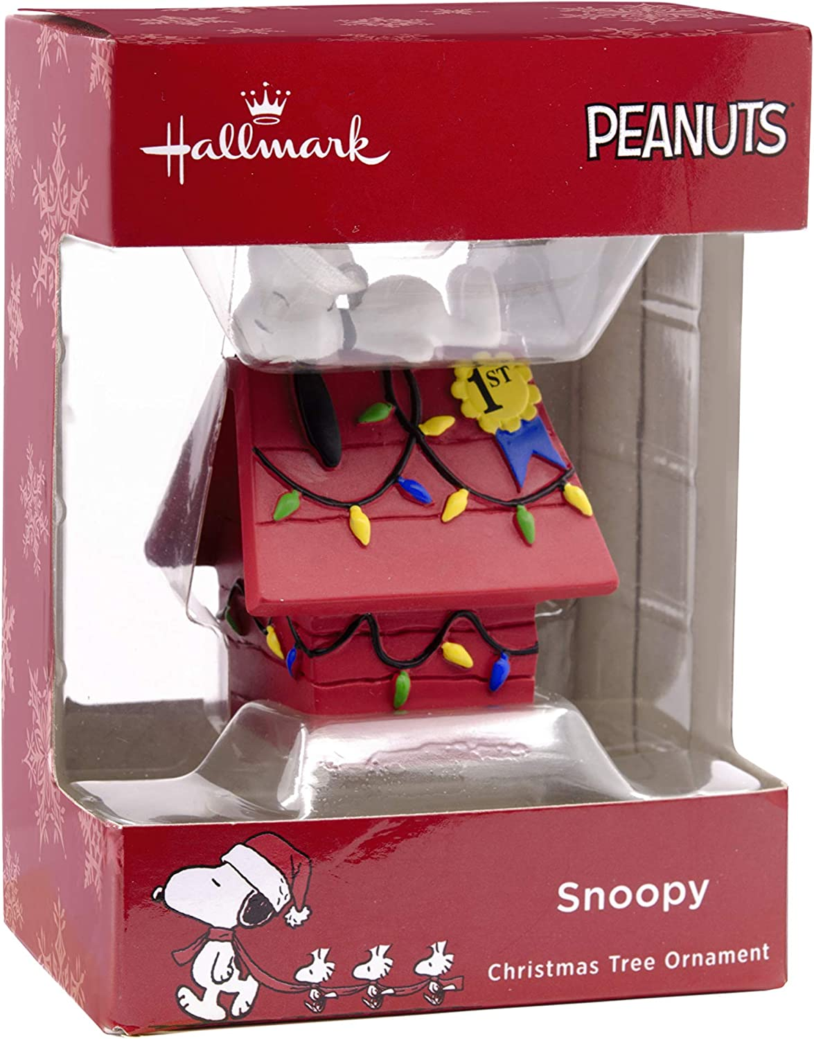 Hallmark Peanuts Snoopy /& Woodstock Doghouse Baby/'s First Christmas Ornament