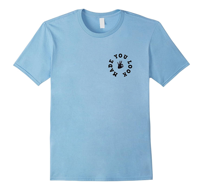 Finger Circle Funny T Shirt Heather-Awarplus