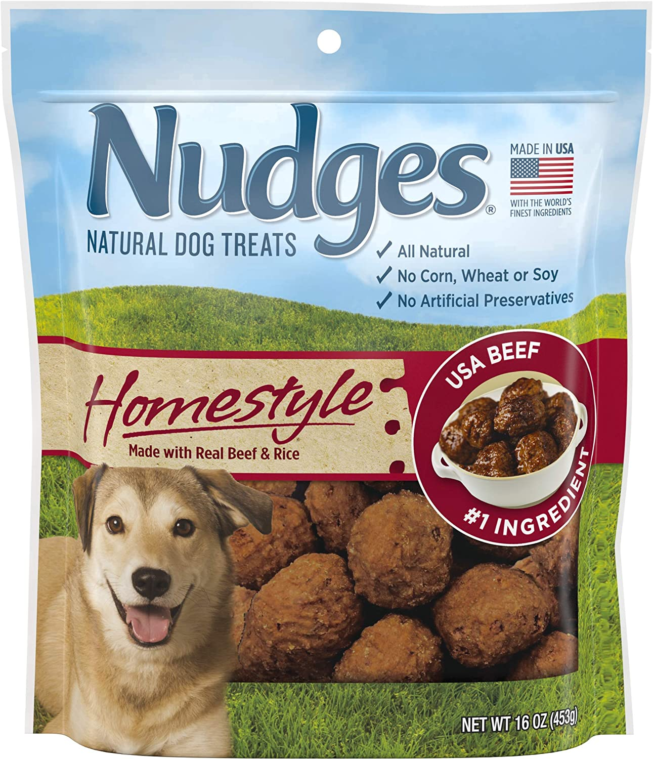 Nudges Homestyle Meatball Made with Real Beef & Rice, 16 Ounce