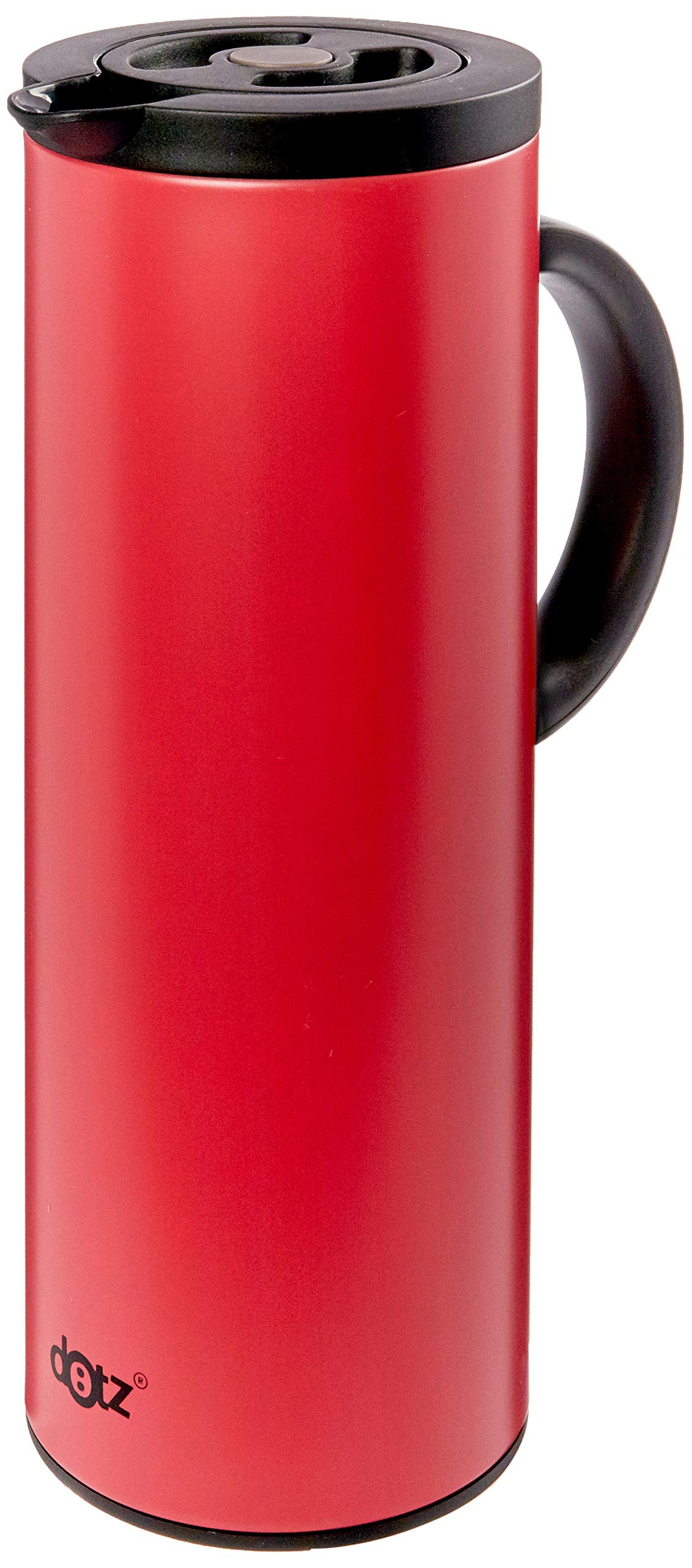 A'Domo DT-SIL-0047 Dotz Vacuum Flask with Glass Interior Body Red 1L, Silicone by A'Domo