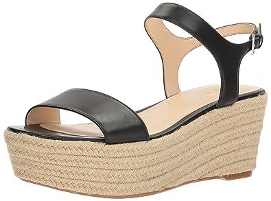 8a2ccf78d09c Nine West Women s Flownder Leather Wedge Sandal