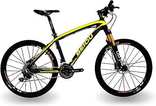 BEIOU MTB Shimano M6000 DEORE - Bicicleta de montaña (Fibra de ...