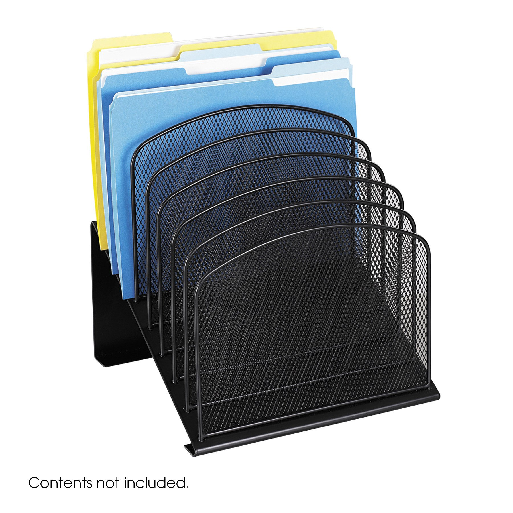 Safco Products 3258BL Onyx Mesh Desktop Organizer with 8 Tiered Sections, Black