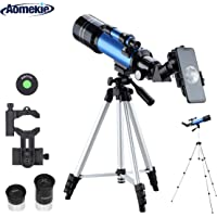Aomekie Refractor Astronomy Telescope 70MM for Kids & Beginners with Aluminum Tripod and Finder Scope