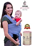 Amazon Price History for:Premium Baby Wrap Sling Carrier. Very Secure Size to Keep Infant Happy & Cozy. Newborn to 36 Months. Innovative Front Pocket. Breathable. Easy to Put On. Deluxe Gift Box. Best Shower Gift (Grey)