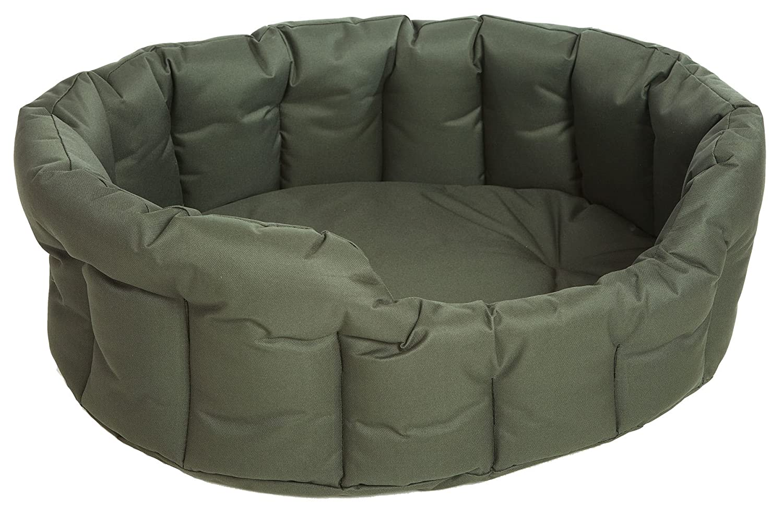 P & L Superior Pet Beds Bett für Haustiere, oval, wasserdicht, strapazierfähig, weich