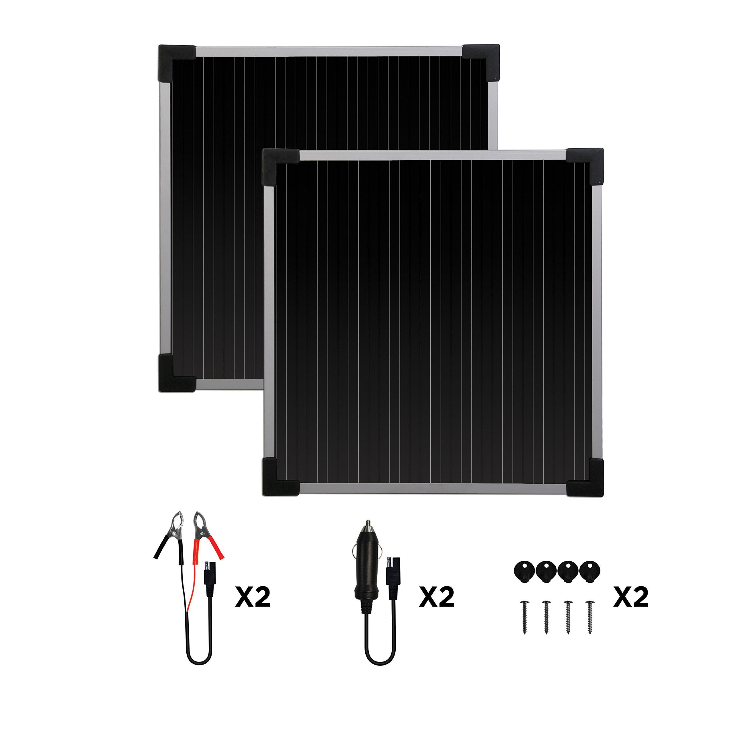 Sunforce 52022 5 Watt Solar Trickle Charger - Pack of 2