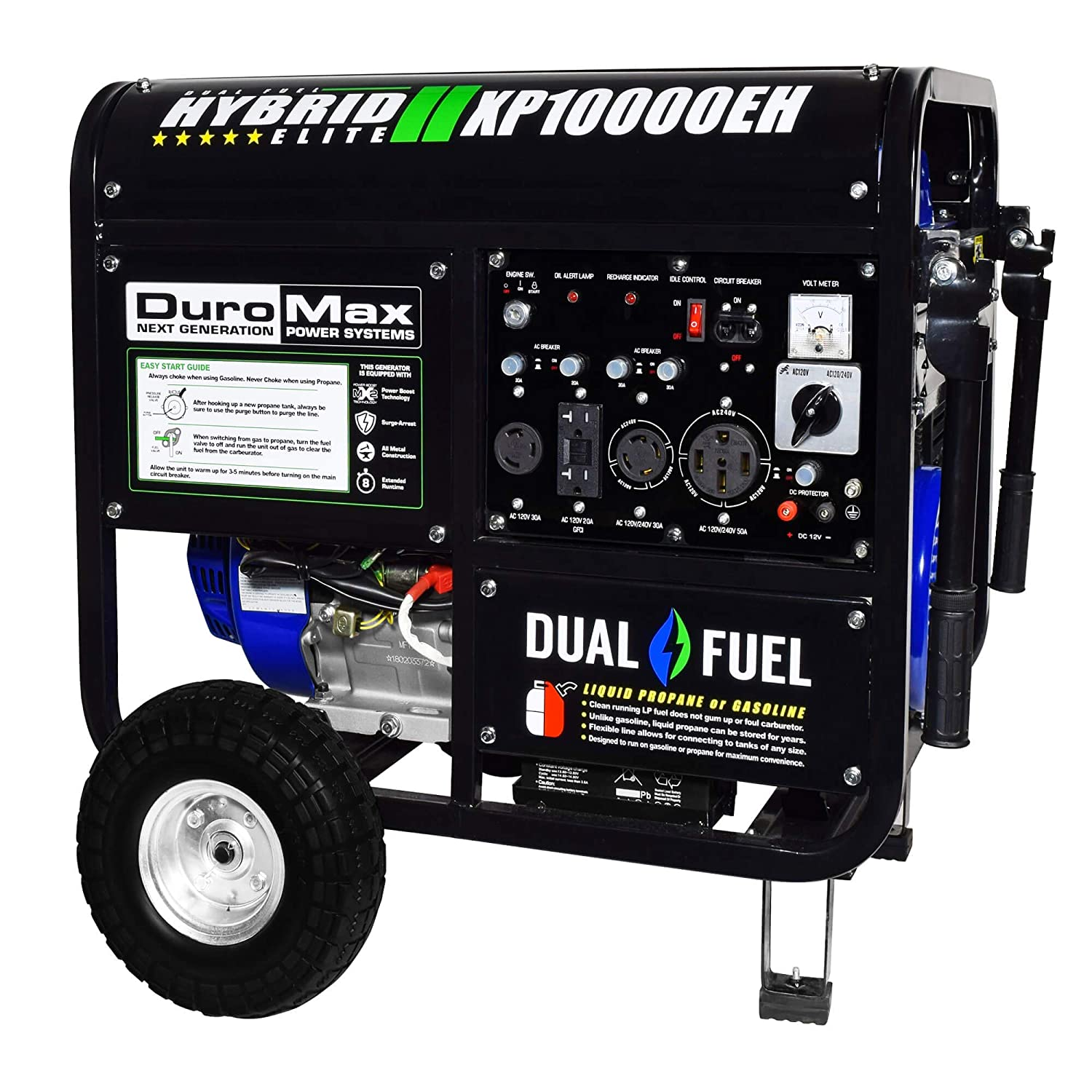 Duromax Xp10000eh 10000 Watt Dual Fuel Hybrid Generator House Generators But Also Has Been Wiring Portable Into W Elec Start 50 State Garden Outdoor