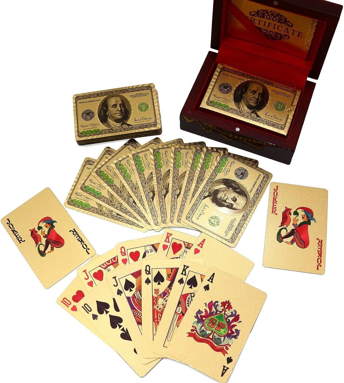 Lot is 8 decks  24K GOLD FOIL PLAYING CARDS NEWEST $100 BILL BENJAMIN  FRANKLIN
