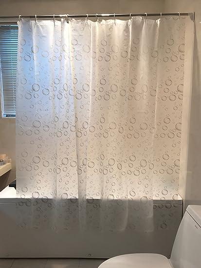 FANNEE Bubbles PEVA Shower Curtain