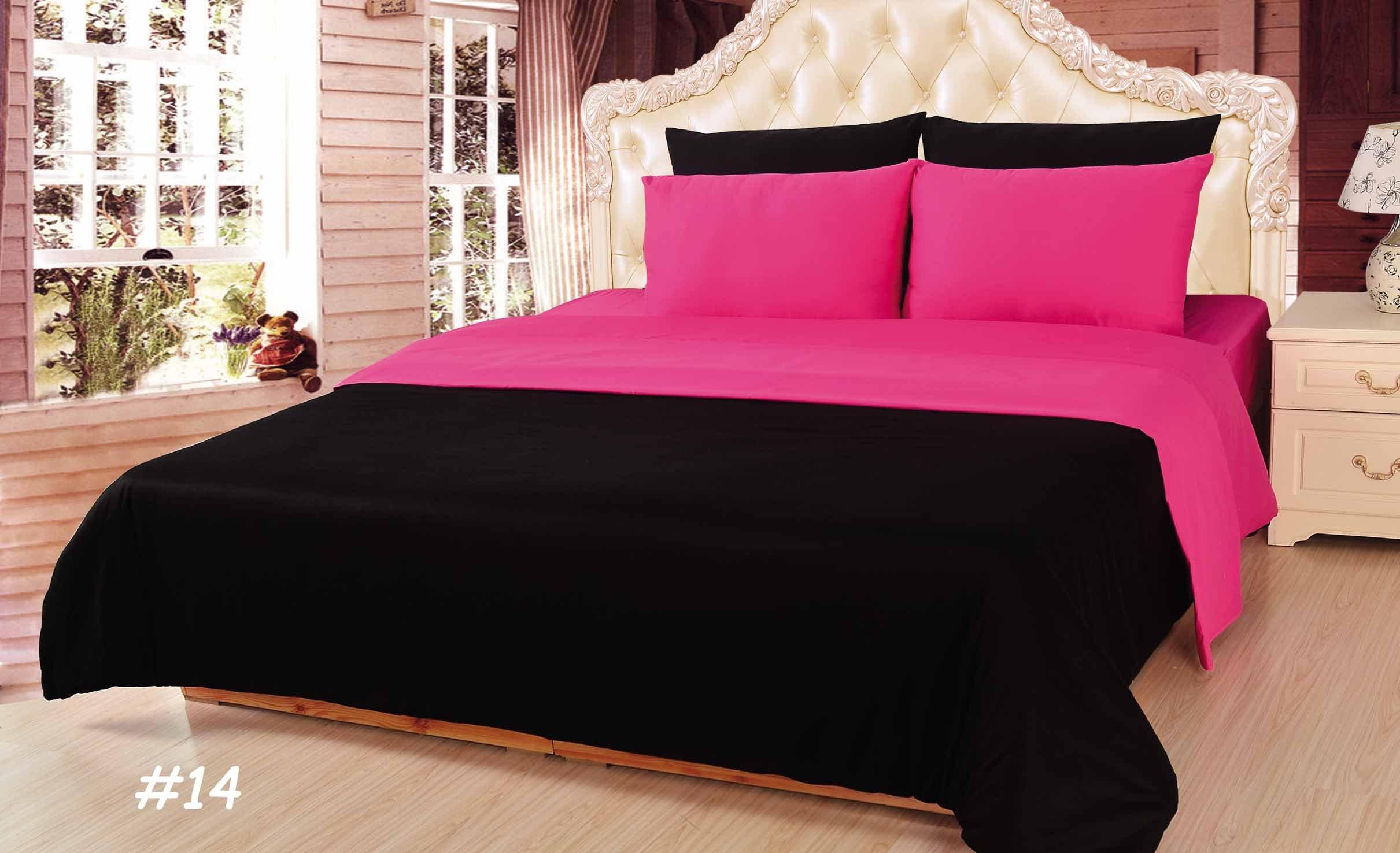 Tache Home Fashion DUALColorPink-S Reversible Comforter Set, Twin, Pink by Tache Home Fashion (Image #2)