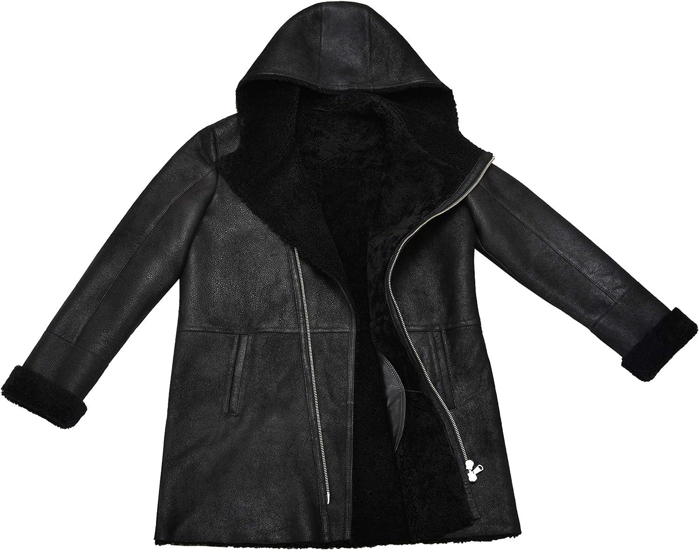 Vintage Black Sheepskin Jacket Shearling