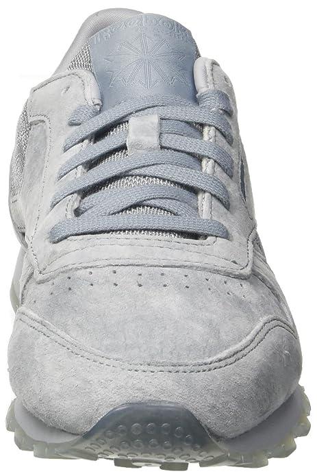Reebok Damen Classic Leather Lace Sneaker, Grau (Meteor Grey White), 39 EU