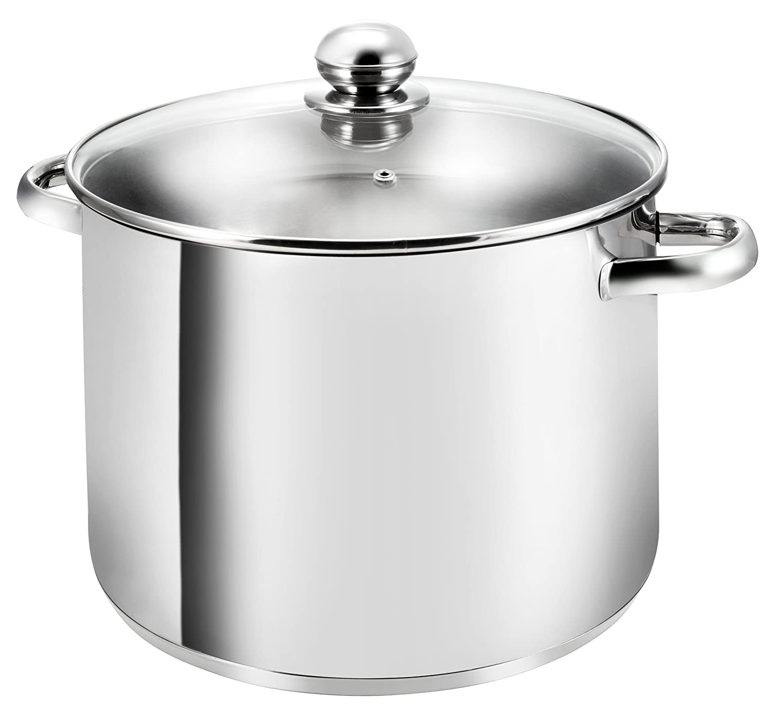 Kopf Gigant Large Cooking Pot with Glass Lid, Stainless Steel, Diameter 28 cm, Height 21 cm, 12.5 Litre 122463