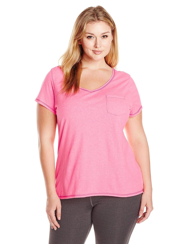 Just My Size Women's Short Sleeve X-Temp Pocket Tee Just My Size Activewear OJ225