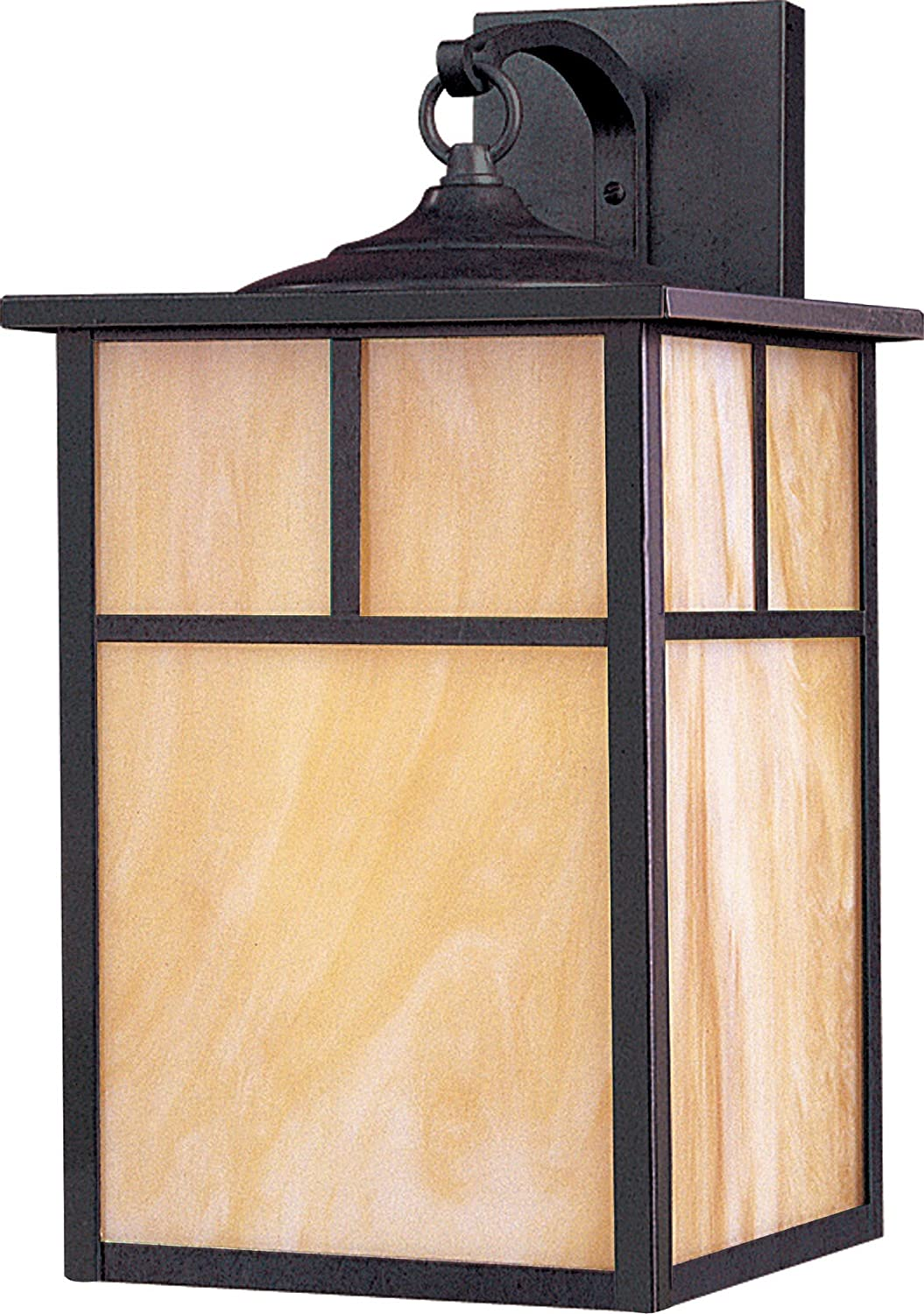 Maxim 4054HOBU Coldwater 1-Light Outdoor Wall Lantern, Burnished Finish, Honey Glass, MB Incandescent Incandescent Bulb , 100W Max., Dry Safety Rating, Standard Dimmable, Glass Shade Material, 5750 Rated Lumens