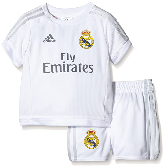 adidas Real Madrid Home Miniconjunto, Infantil, (White/Clear ...