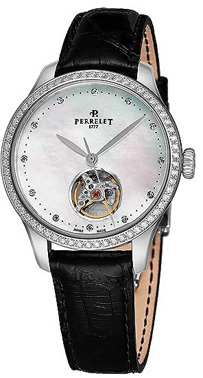Perrelet Reloj de Mujer automático 35mm Correa de Cuero de caimán A2069-1
