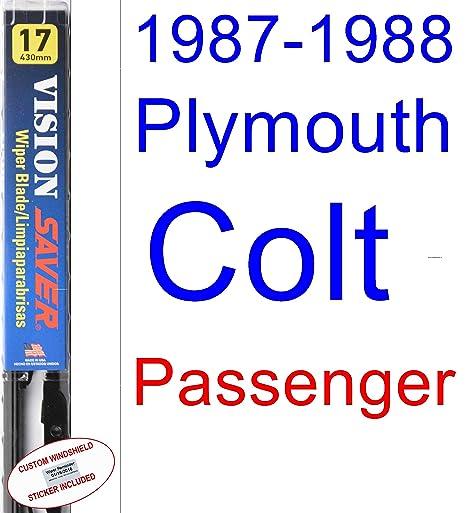 Amazon.com: 1987-1988 Plymouth Colt Premier Wiper Blade (Passenger) (Saver Automotive Products-Vision Saver): Automotive