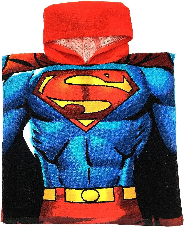 DC Comics Superh/éroe Superman Batman con Capucha Playa ba/ño nataci/ón Toalla Poncho