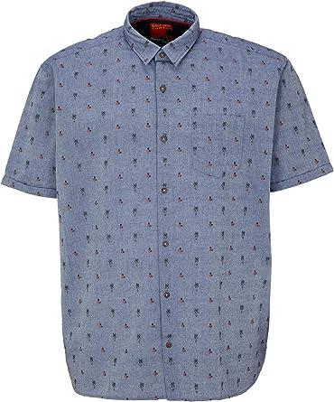 S.Oliver Big Size Hemd Kurzarm Regular Fit Camisa, 56K1 Dobby Azul, 3XL para Hombre: Amazon.es: Ropa y accesorios
