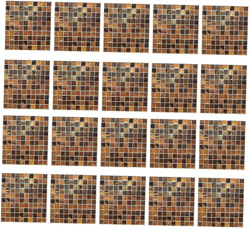 Orange Fliesenaufkleber Mosaik 20 x 20cm Fliesendekor f/ür K/üche Bad
