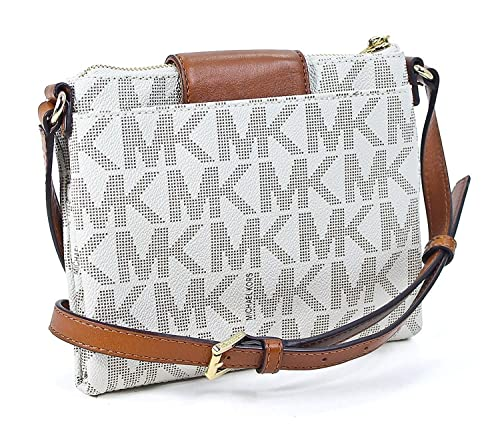 3e45f2932c7d Michael Kors Fulton Brown Small Crossbody Bag 32F3GFTC3B (Vanilla ...