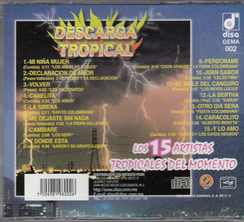 Los Vallenatos, Aaron y Su Grupo Ilusion, Alberto Benitta Los Angeles Azules - Descarga Tropical: Los 15 ArtistasTropicales Del Momento - Amazon.com Music
