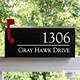 Back40Life - Mailbox Numbers Street Address Vinyl Decal (E-004q)