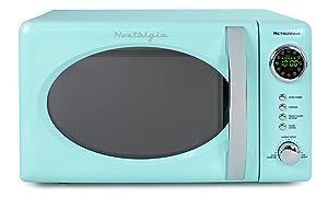 Nostalgia RMO7AQ Retro 0.7 Cubic Foot 700-Watt Countertop Microwave Oven, Aqua