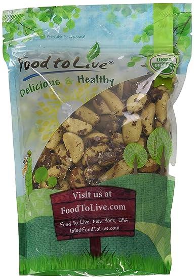 Food to Live Las nueces de Brasil Bio (Eco, Ecológico, crudas, sin