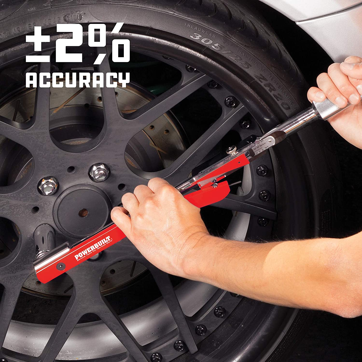 Powerbuilt 649972 1//2-Inch Drive Deflecting Beam Torque Wrench