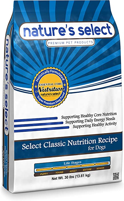 Nature's Select Classic Recipe - Chicken & Rice, All Stages Dry Dog Food (5 LBs)