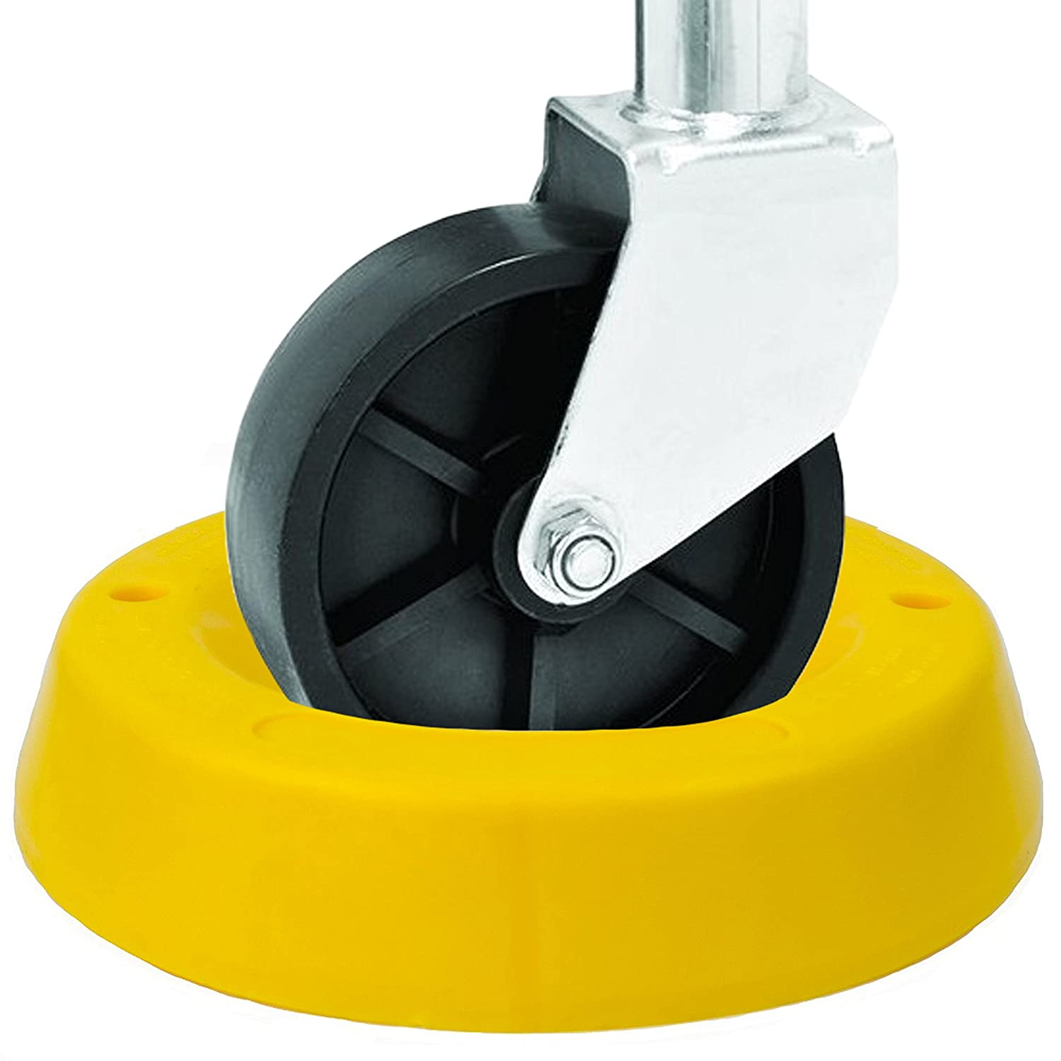 High Visibility Yellow BUNKERWALL Trailer Tongue Jack Wheel Dock for Travel Trailer Jack Caster