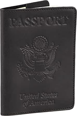 Shvigel Leather Passport Cover - Holder - for Men & Women - Passport Case