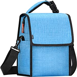 Banbrick Lunch Bag,Foldable Insulated Lunch Box,Large Cooler Tote Bag for Women and Men,Kids Lunch Bag, Lunch Bag for adults,Thermal Lunch Bag for Work/Picnic/Hiking(Sea Blue)