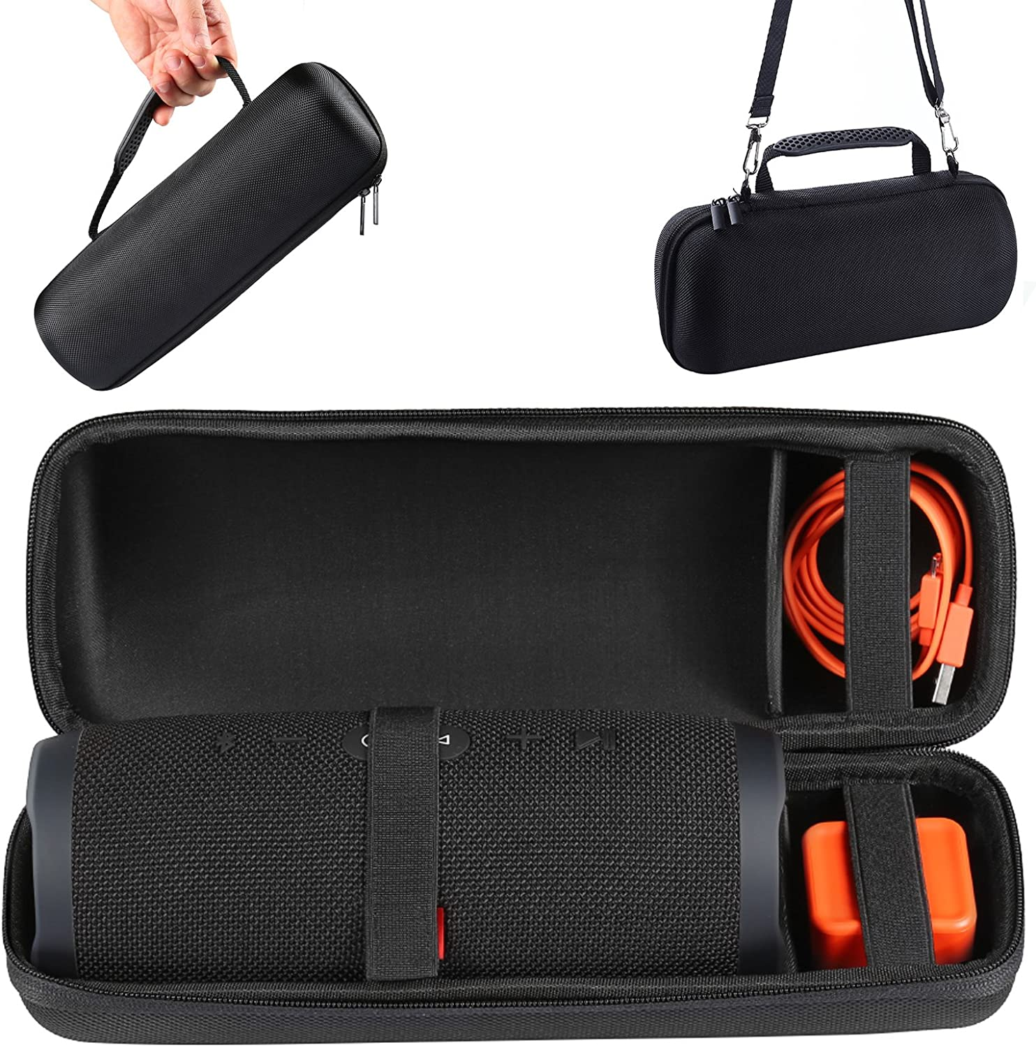 For JBL Charge 3 Flip 4 Speaker EVA Carry Case Travel Bag Shoulder Strap