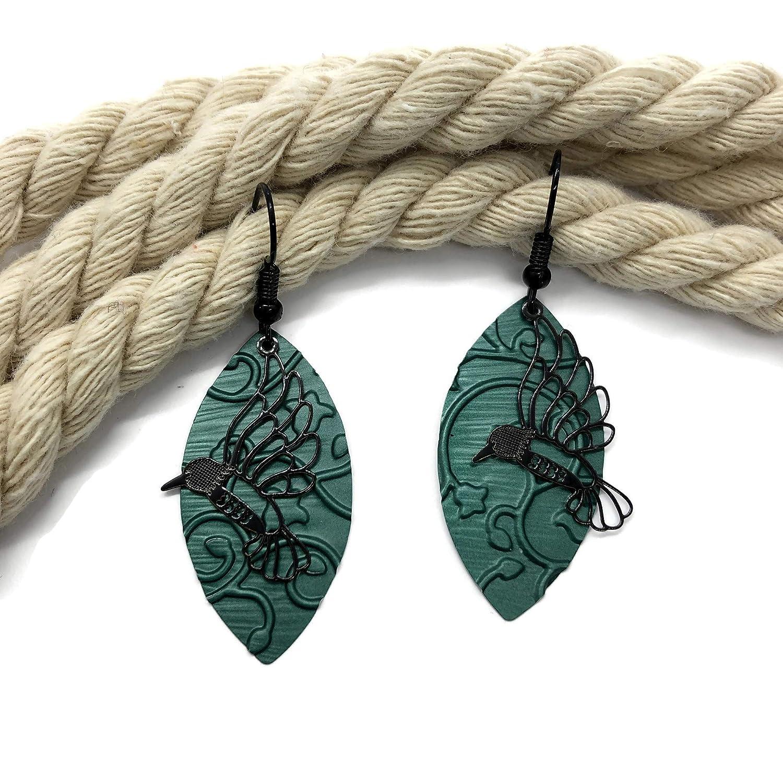 Pendientes de colibríes - Hechos con capsulas de café