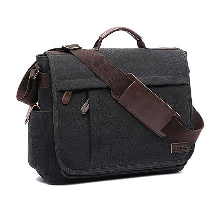 8e6f5e45c1 LOSMILE Large Messenger Bag.15.6 Inch Laptop Bag