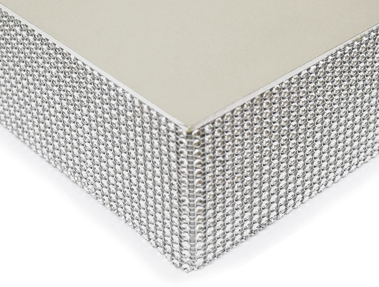 Amazon.com: Bling, Wedding Cake Stand/Drum (14\'\' Square, Silver ...