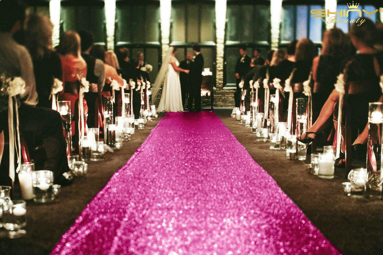 ShinyBeauty Champagne Sparkle Aisle Runner 4FTX20FT,Glitter Wedding Runner For Outdoors, Glamorous Wedding ShinyBeauty Wedding Co.Ltd