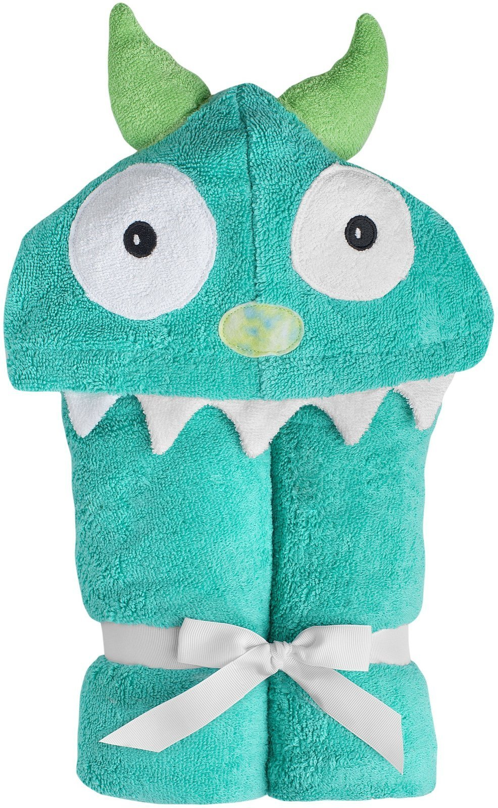 Yikes Twins Child Hooded Towel - Turquoise Monster by Yikes Twins