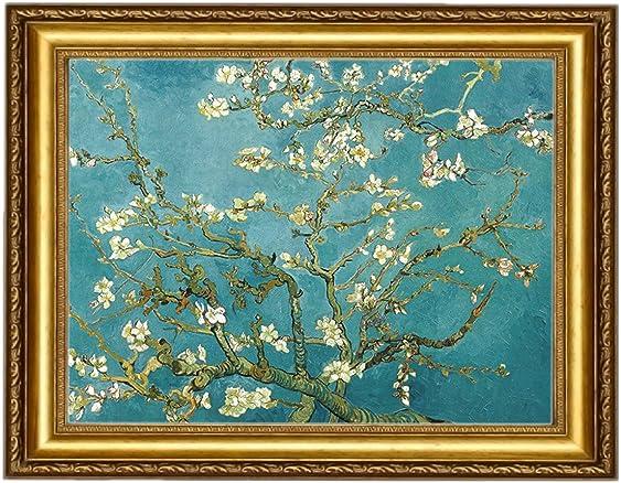 Eliteart-Almond Blossom Canvas Wall Art