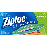 Ziploc Sandwich Bags with Easy Open Tabs - 90 Count Value Pack