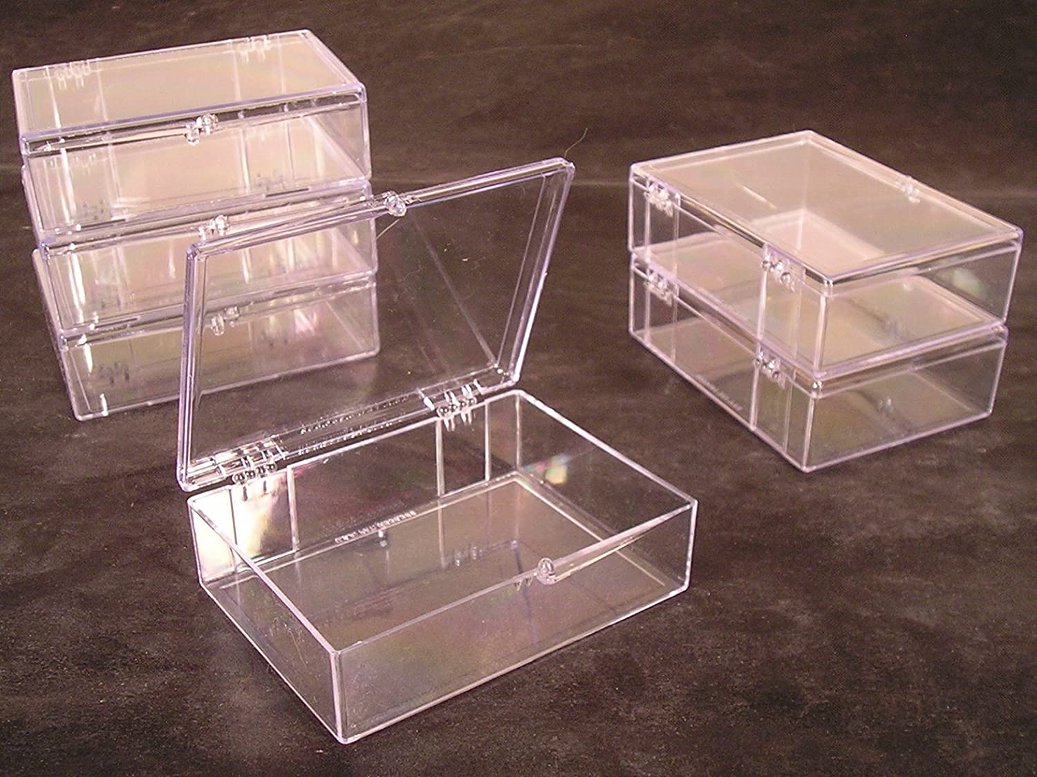 Amazon lot of 25 crystal clear hinged plastic trading card amazon lot of 25 crystal clear hinged plastic trading card storage boxes 55 ct made in the usa sports related trading card storage boxes colourmoves
