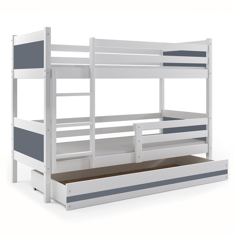 Interbeds LITERA Infantil 190X80 Rino con cajón, somieres y colchones de Regalo!! Color Blanco (LOS Paneles (Gris): Amazon.es: Hogar
